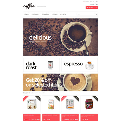 Coffee Maniacs PrestaShop Theme (PrestaShop theme for tea and coffee) Item Picture