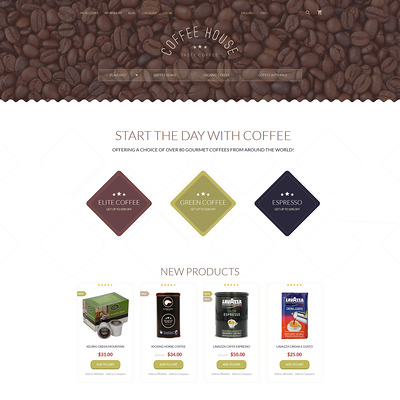 Coffee Shop Magento Theme (Magento theme for coffee and tea stores) Item Picture