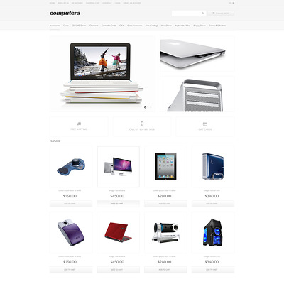 Computer Apparel OpenCart Template (OpenCart theme for electronics) Item Picture