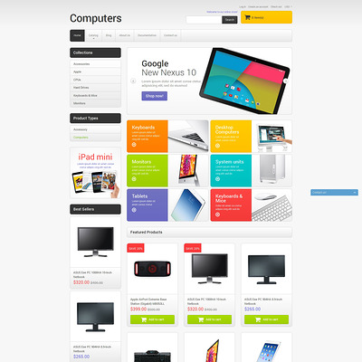 Computer Sales Shopify Theme (Shopify theme for electronics stores) Item Picture