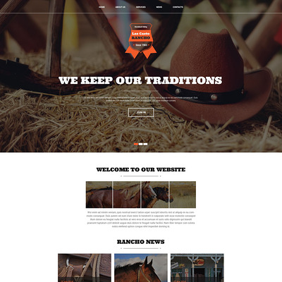 Cowboy Ranch Joomla Template (Joomla theme for agriculture and farms) Item Picture