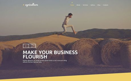 Crop Farming WordPress Theme (farming and agricultural WordPress theme) Screenshot