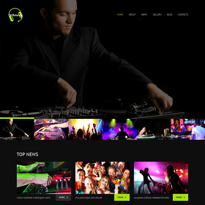 DJ Responsive WordPress Theme (WordPress theme for night clubs) Item Picture