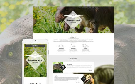Dinosaur Park WordPress Theme (museum WordPress theme) Screenshot