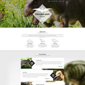 Dinosaur Park WordPress Theme (museum WordPress theme) Item Picture
