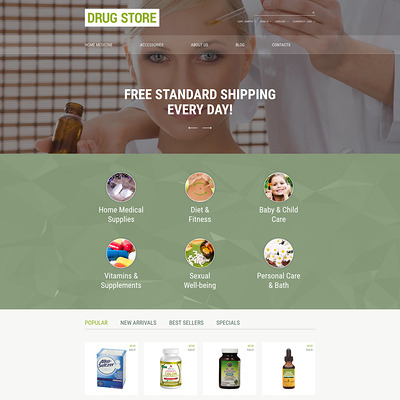 Drug Store PrestaShop Theme (PrestaShop theme for health and medical stores) Item Picture