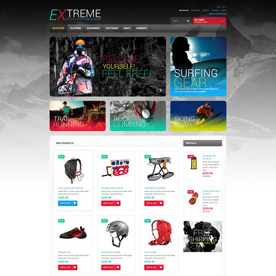 Effective Online Store Magento Theme (Magento theme for sports stores) Item Picture
