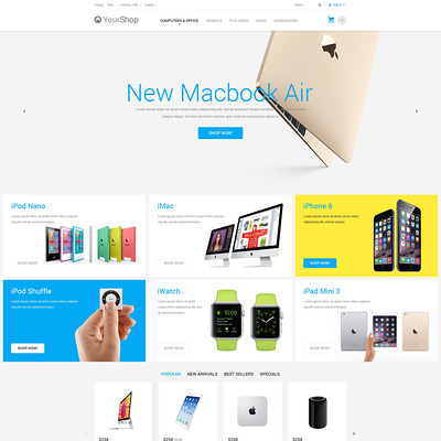 Electronics Store PrestaShop Theme (PrestaShop theme for electronics stores) Item Picture