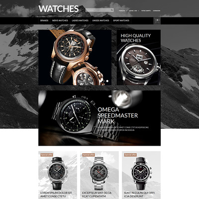Elegant Timepieces PrestaShop Theme (PrestaShop theme for watch stores) Item Picture