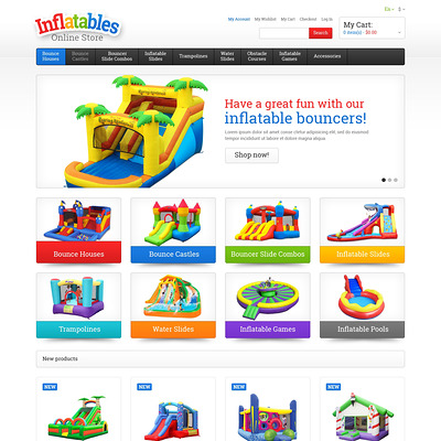 Entertainmnet Responsive Magento Theme (Magento theme for kids, babies, and children) Item Picture