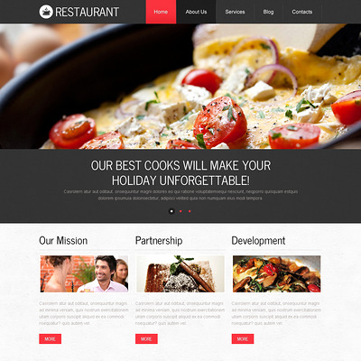 European Cuisine Drupal Template (Drupal theme for restaurants) Item Picture
