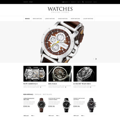 Exclusive Watches PrestaShop Theme (PrestaShop theme for watch stores) Item Picture