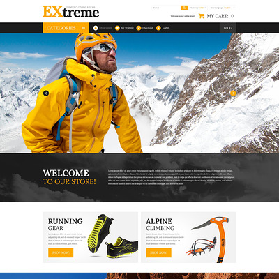 Extreme Sports Gear Magento Theme (Magento theme for sports stores) Item Picture