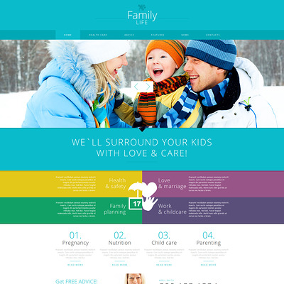 Family Center Responsive Joomla Template (Joomla template for family websites) Item Picture