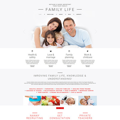 Family Joomla Template (Joomla template for family websites) Item Picture