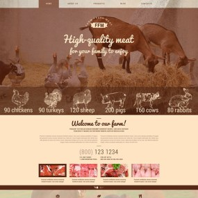 Farm Fresh Meats WordPress Theme (farming and agricultural WordPress theme) Item Picture
