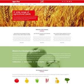 Farm Responsive WordPress Theme (farming and agricultural WordPress theme) Item Picture