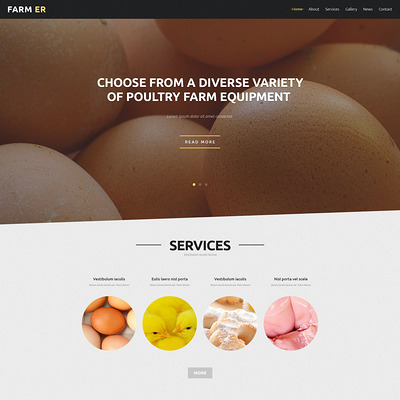Farming Standards Joomla Template (Joomla theme for agriculture and farms) Item Picture