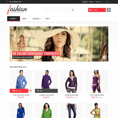 Fashion PrestaShop Theme (PrestaShop theme for womens clothing) Item Picture