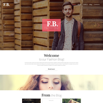 Fashion WordPress Theme (WordPress theme for fashion blogs) Item Picture