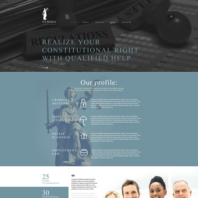 Femida Joomla Template (Joomla template for lawyers and law firms) Item Picture