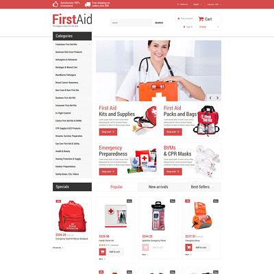 First Aid Store PrestaShop Theme (PrestaShop theme for health and medical stores) Item Picture