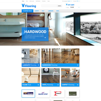 Flooring Magento Theme (Magento theme for flooring stores) Item Picture