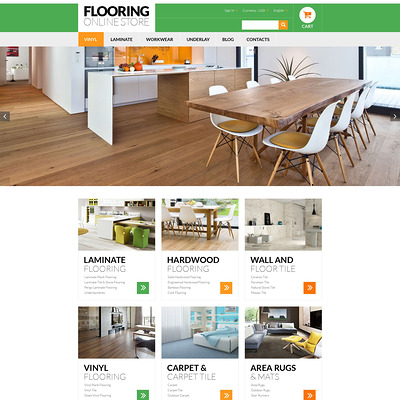 Flooring Online Store PrestaShop Theme (PrestaShop theme for wood and tile flooring stores) Item Picture