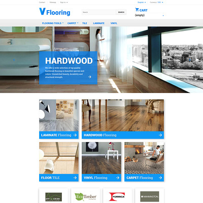 Flooring PrestaShop Theme (PrestaShop theme for wood and tile flooring stores) Item Picture