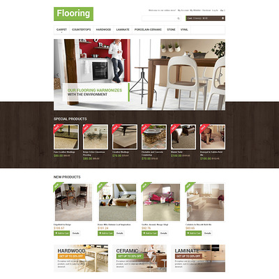 Flooring Store Magento Theme (Magento theme for flooring stores) Item Picture