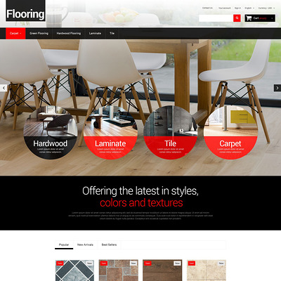 Flooring for Homes PrestaShop Theme (PrestaShop theme for wood and tile flooring stores) Item Picture