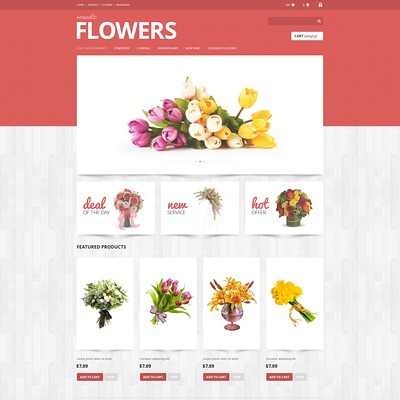 Flowers Shop PrestaShop Theme (PrestaShop theme for florists and flower shops) Item Picture