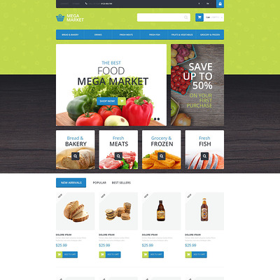 Food Shop PrestaShop Theme (PrestaShop theme for food stores) Item Picture