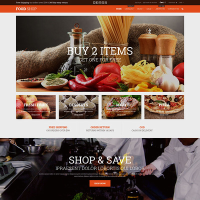 Food Shop Shopify Theme (Shopify theme for food) Item Picture