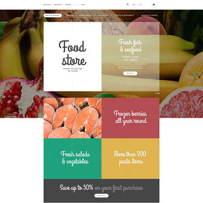 Food Store Magento Theme (Magento theme for selling food and spices) Item Picture