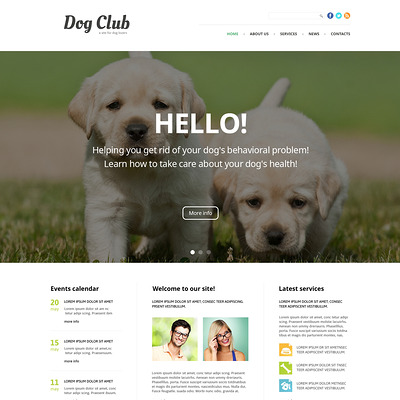 For Babies Training Joomla Template (Joomla template for websites about pets and animals) Item Picture