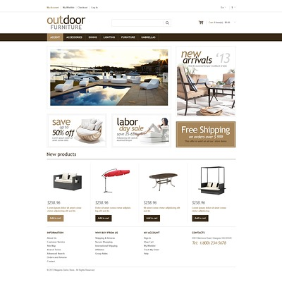 Furniture Responsive Magento Theme (Magento theme for furniture stores) Item Picture