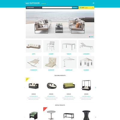 Furniture Responsive OpenCart Template (OpenCart themes for furniture stores) Item Picture