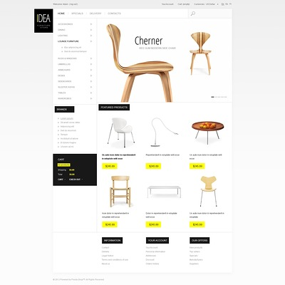 Furniture Store PrestaShop Theme (PrestaShop theme for furniture stores) Item Picture