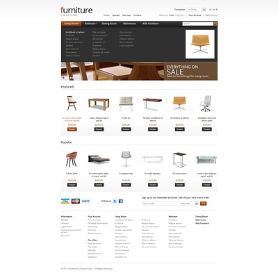 Furniture Trends PrestaShop Theme (PrestaShop theme for furniture stores) Item Picture