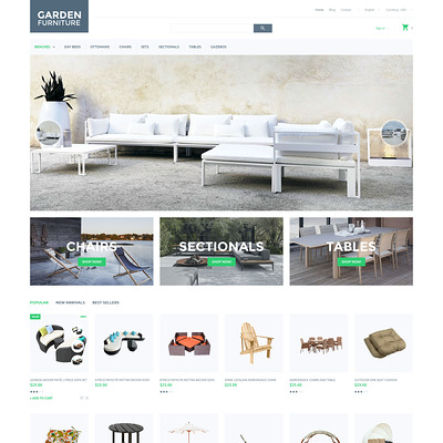 Garden Furniture PrestaShop Theme (PrestaShop theme for furniture stores) Item Picture