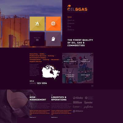 Gas and Oil Trading Joomla Template (Joomla template for industrial companies) Item Picture