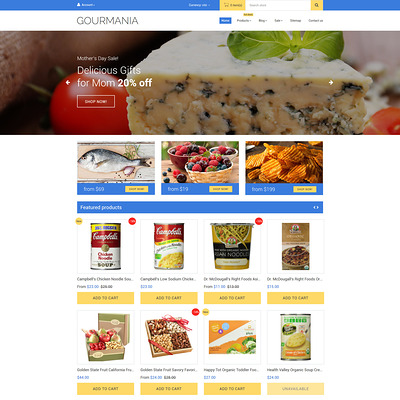 Gourmania Shopify Theme (Shopify theme for food) Item Picture