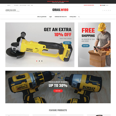 GrailWibo (Magento theme for tool stores) Item Picture