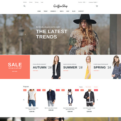 Griffon Shop (PrestaShop theme for womens clothing) Item Picture
