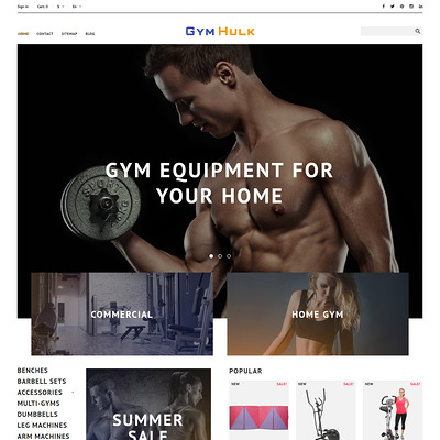 GymHulk (PrestaShop theme for sports stores) Item Picture