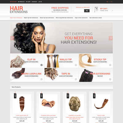 Hair Salon Responsive Magento Theme (Magento theme for hair and beauty products) Item Picture