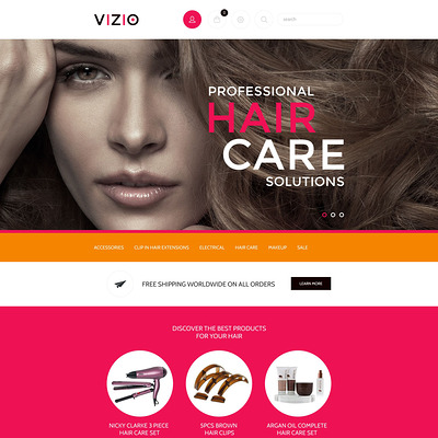 Hair Salon Responsive Shopify Theme (Shopify theme for cosmetics and beauty products) Item Picture