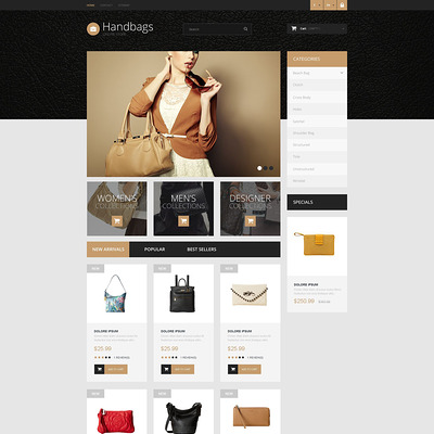 Handbag Boutique PrestaShop Theme (PrestaShop theme for purses and handbags) Item Picture