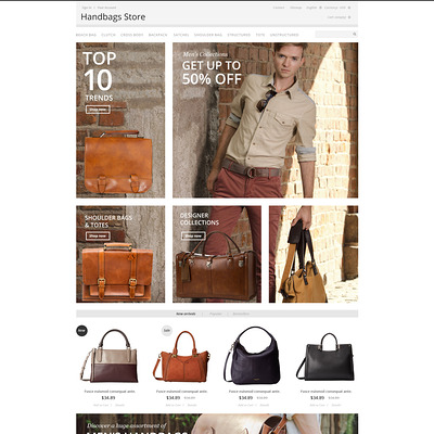 Handbags Store PrestaShop Theme (PrestaShop theme for purses and handbags) Item Picture